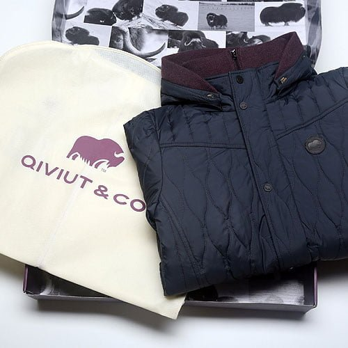 the qiviut jacket in a luxury box