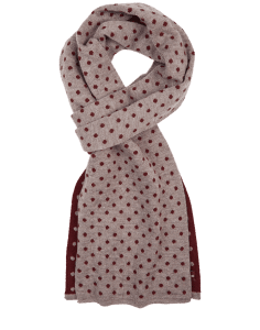 Classic Neck Warmer Aubergine Earth - qiviut scarf