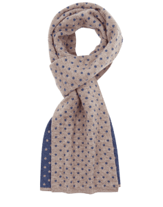 Classic Neck Warmer Azure Earth - qiviut scarf