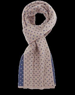 Classic Neck Warmer Azure Earth - qiviut scarf