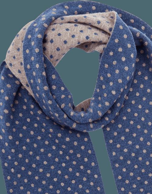 Azure qiviut scarf