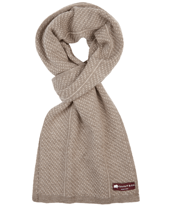 White earth qiviut scarf by QIVIUT & CO. Luxury boxed for the perfect present
