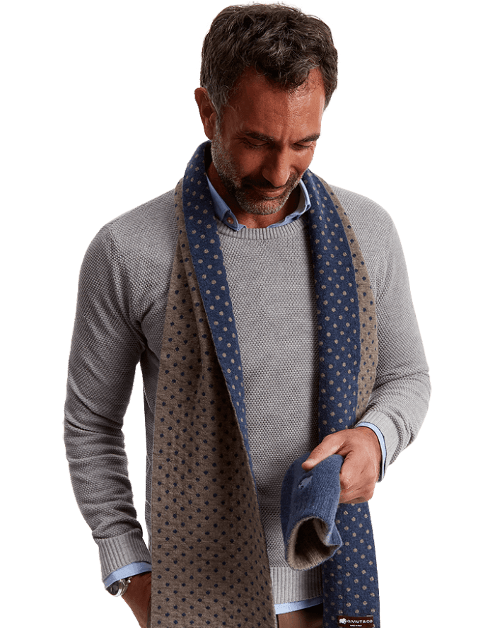 softer than cashmere - the qiviut duo azure scarf by QIVIUT & CO