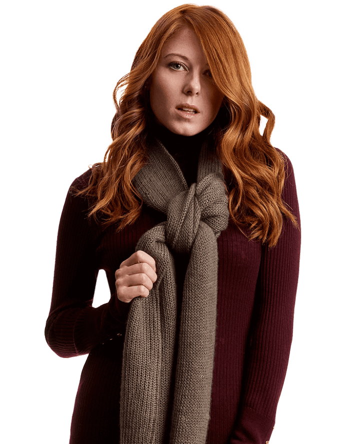 Women qiviut scarf