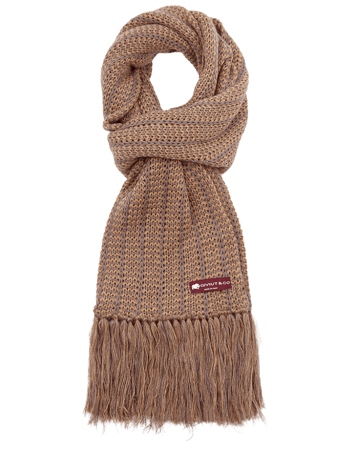 Fringed Intrecciata qiviut scarf - soft and luxurious