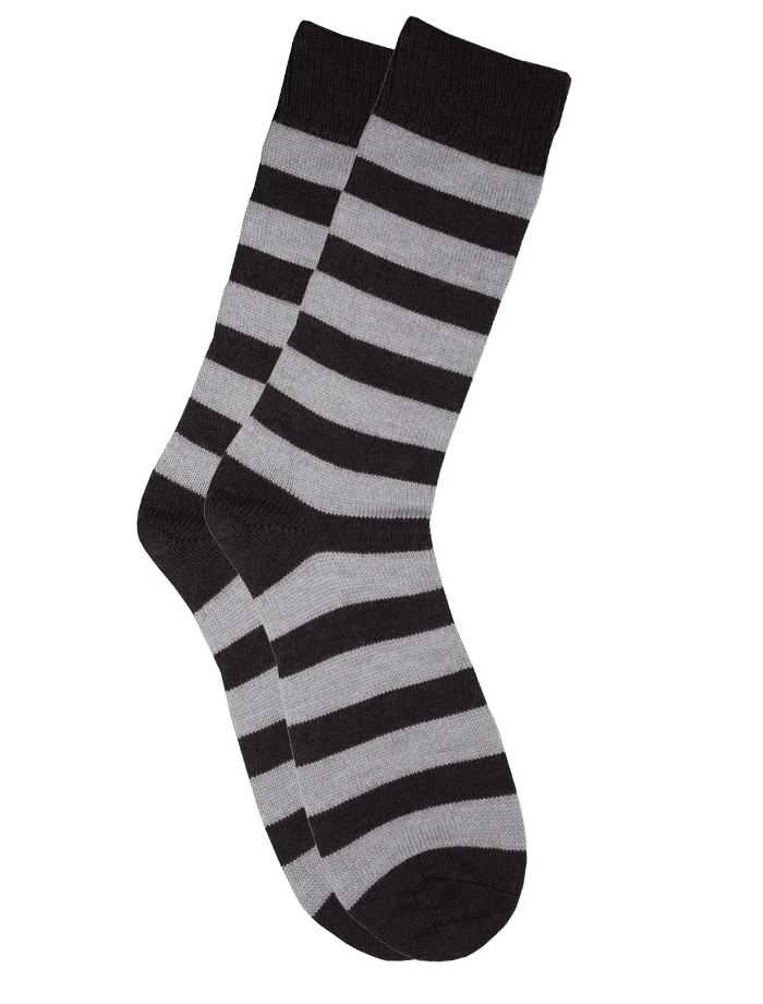 The Qiviut Ox Socks in Silver