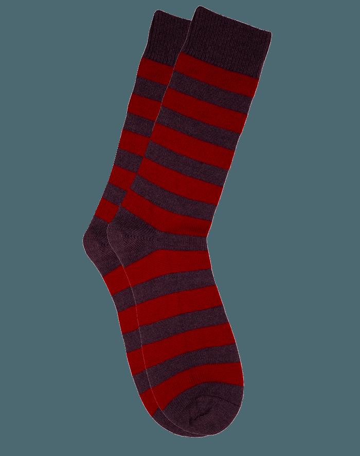 The Qiviut Ox Socks in Burgundy