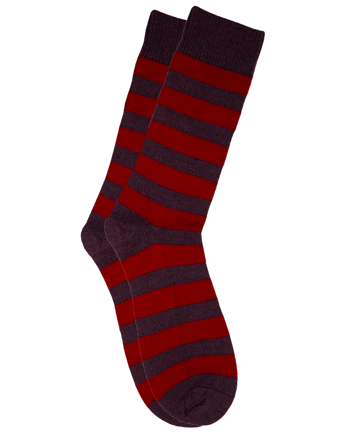 The Qiviut Ox Socks in Burgundy