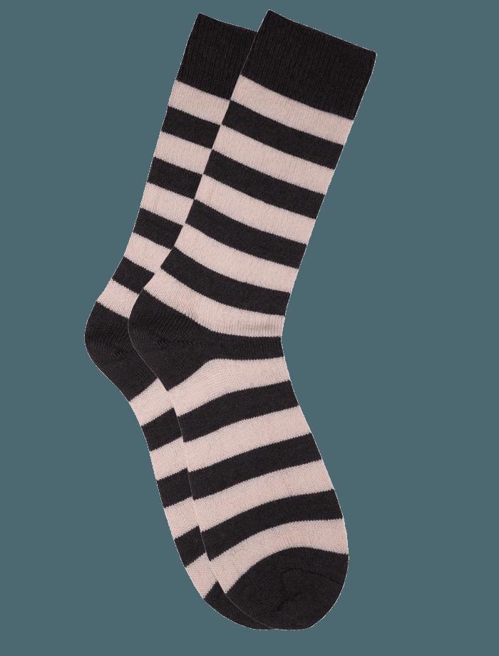 The Qiviut Ox Socks in Cerise