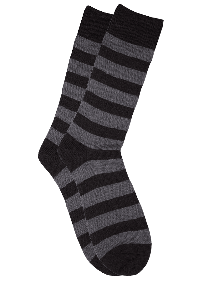 The Qiviut Ox Socks in Charcoal