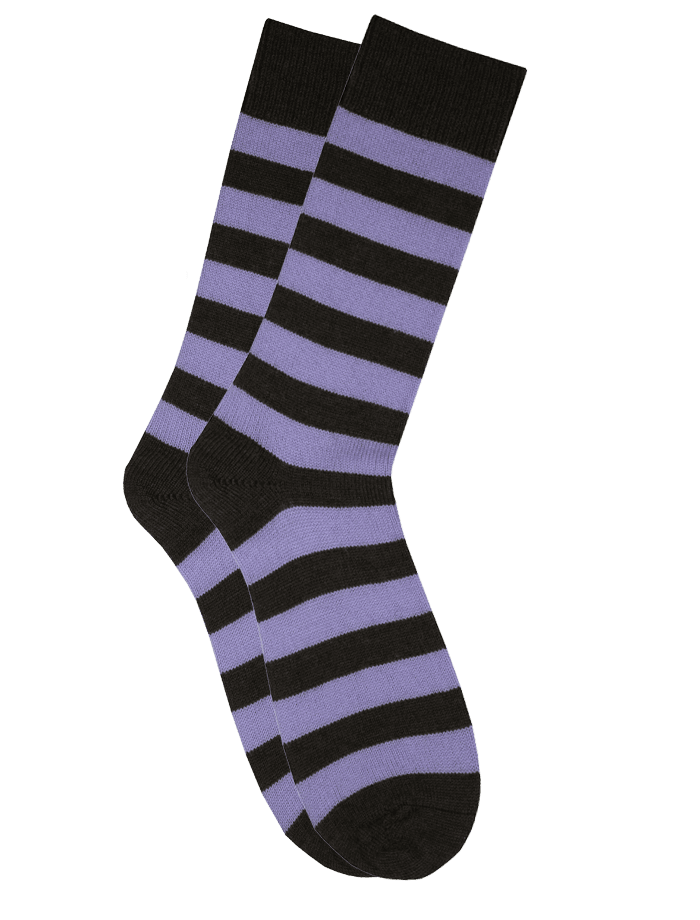 The Qiviut Ox Socks in Lilac